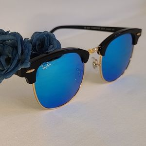 Unisex Ray Ban Clubmaster RB3016 Blue Flash